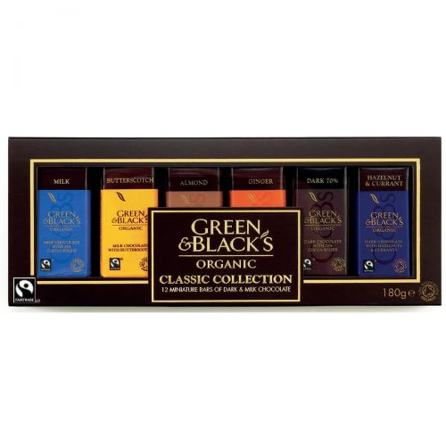 Green & Blacks Organic Chocolate Miniatures Classic Collection Assorted Ref 0401147 [Pack 12] Ref 0401147