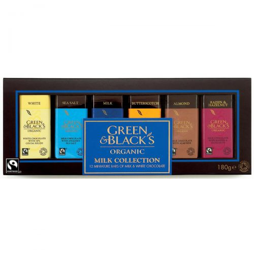 Green & Blacks Organic Chocolate Miniatures Milk Collection Assorted Ref 0401148 [Pack 12] Ref 0401148