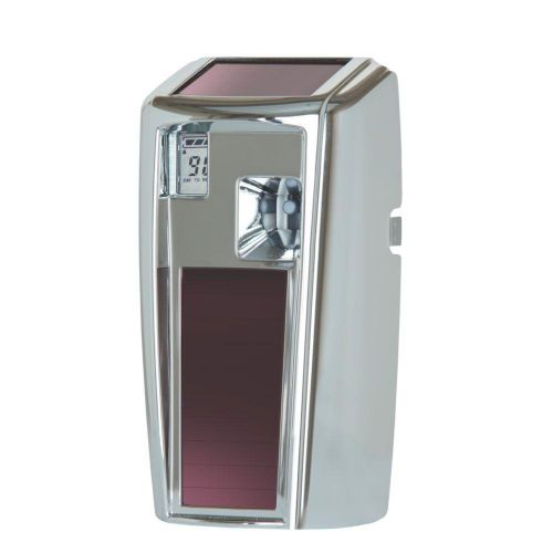 Rubbermaid Microburst 3000 LumeCel Air Freshener Dispenser Light-powered Chrome Ref 1955230