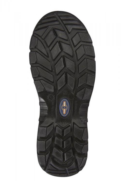 Rockfall ProMan Chukka Shoe Leather Steel Toecap Black Size 11 Ref PM102 11