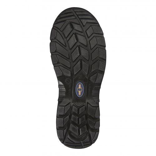 Rockfall ProMan Chukka Shoe Leather Steel Toecap Black Size 12 Ref PM102 12