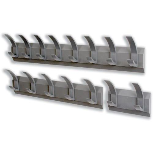 Acorn Hat and Coat Wall Rack with Concealed Fixings 8 Hooks Graphite