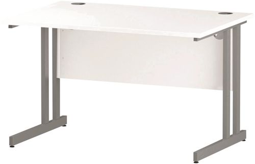 Trexus Rectangular Desk Cantilever Leg 1200mm White