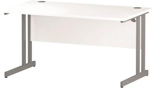 Trexus Rectangular Desk Cantilever Leg 1400mm White