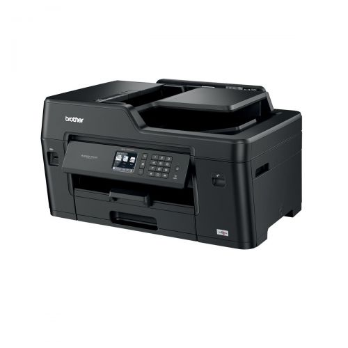 Brother Colour Inkjet Multifunction Printer Wired and Wireless 20ipm A3 Black/Silver Ref MFCJ6530DWZU1