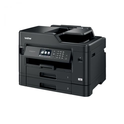 Brother Colour Inkjet Multifunction Printer Wired and Wireless 20ipm A3 Black Ref MFCJ5730DWZU1