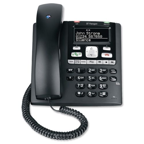 BT Paragon 650 Telephone Corded Answer Machine 200 Memories SMS Caller Inverse Display Ref 32116