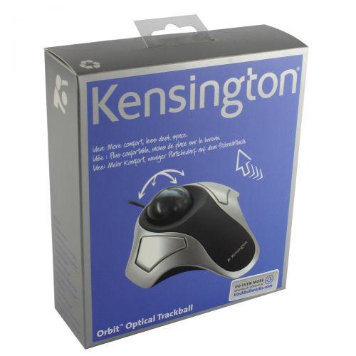 Kensington Orbit Elite Mouse Trackball Corded USB and PS/2 Ref 64327EU