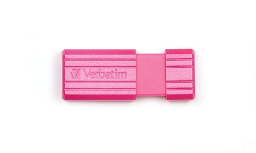Verbatim Pinstripe USB Drive 16GB Pink Ref 49067