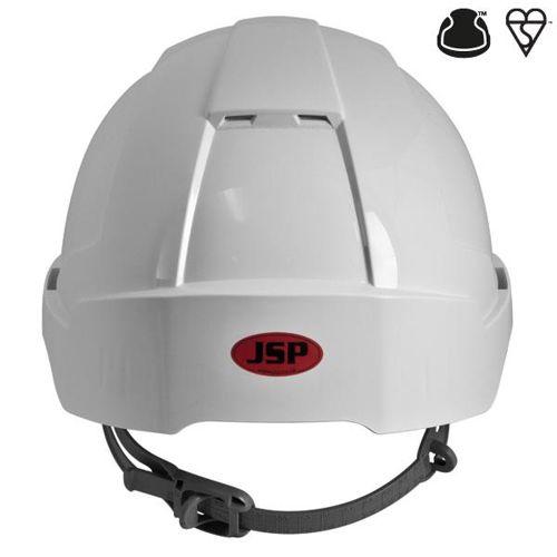 JSP EVOLite CR2 Safety Helmet ABS 6-point Terylene Harness EN397 Standard White Ref AJB160-000-100