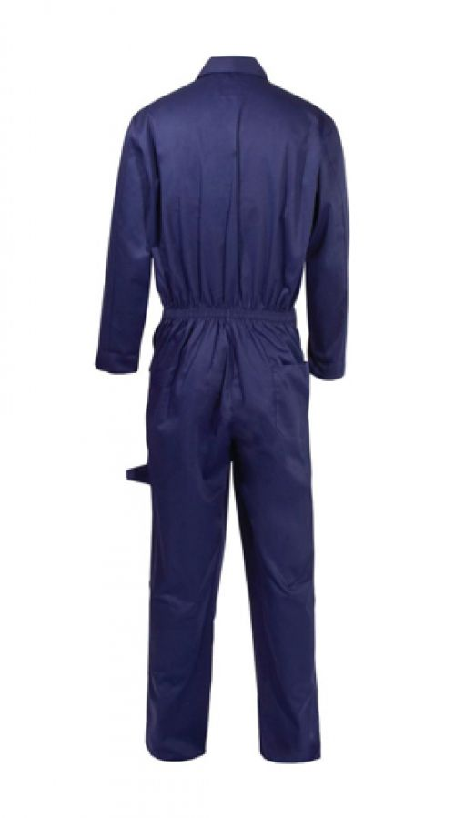 ST Coverall Basic with Popper Front Opening PolyCotton Extra Large Navy Ref 51904 *Approx 3 Day Leadtime*