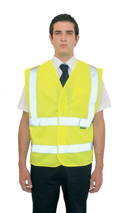 High Visibility Vest Polyester Small-Medium Yellow