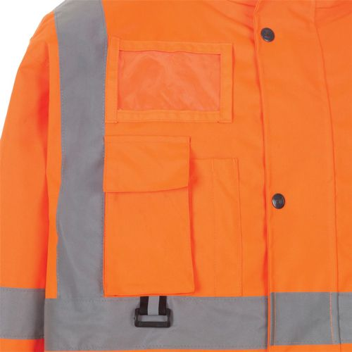 ST High Vis Breathable Jacket with 2 Band & Brace XXXLarge Orange Ref 35B86 *Approx 3 Day Leadtime*