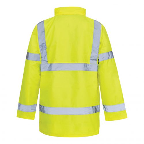 ST High Vis Standard Parka with 2-Way Zip Fastening Medium Yellow Ref 35422 *Approx 3 Day Leadtime*