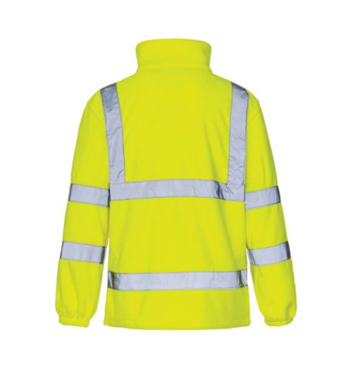 ST High Vis Micro Fleece Jacket Poly Zip Fastening XXXXLarge Yellow Ref 38047 *Approx 3 Day Leadtime*