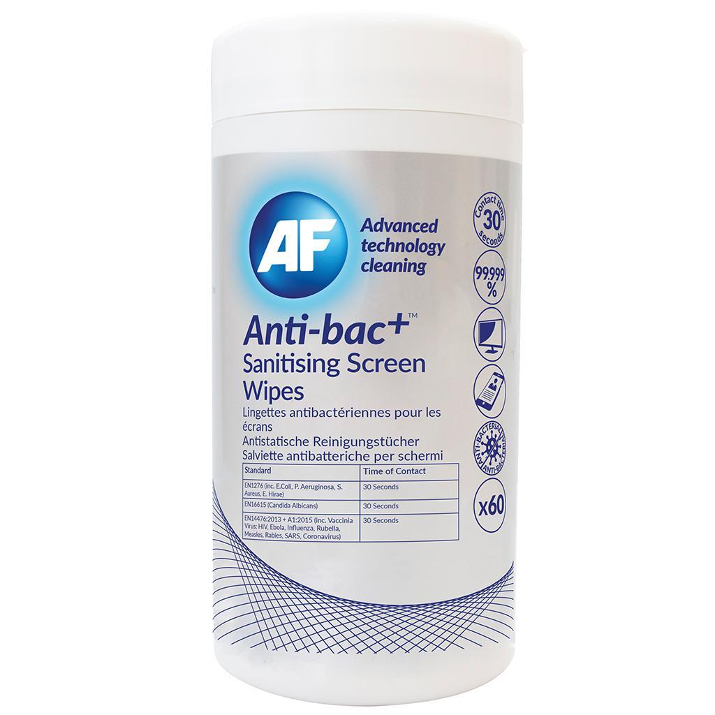 Screen AF Antibacterial Sanitising Screen Wipes Tub of 60