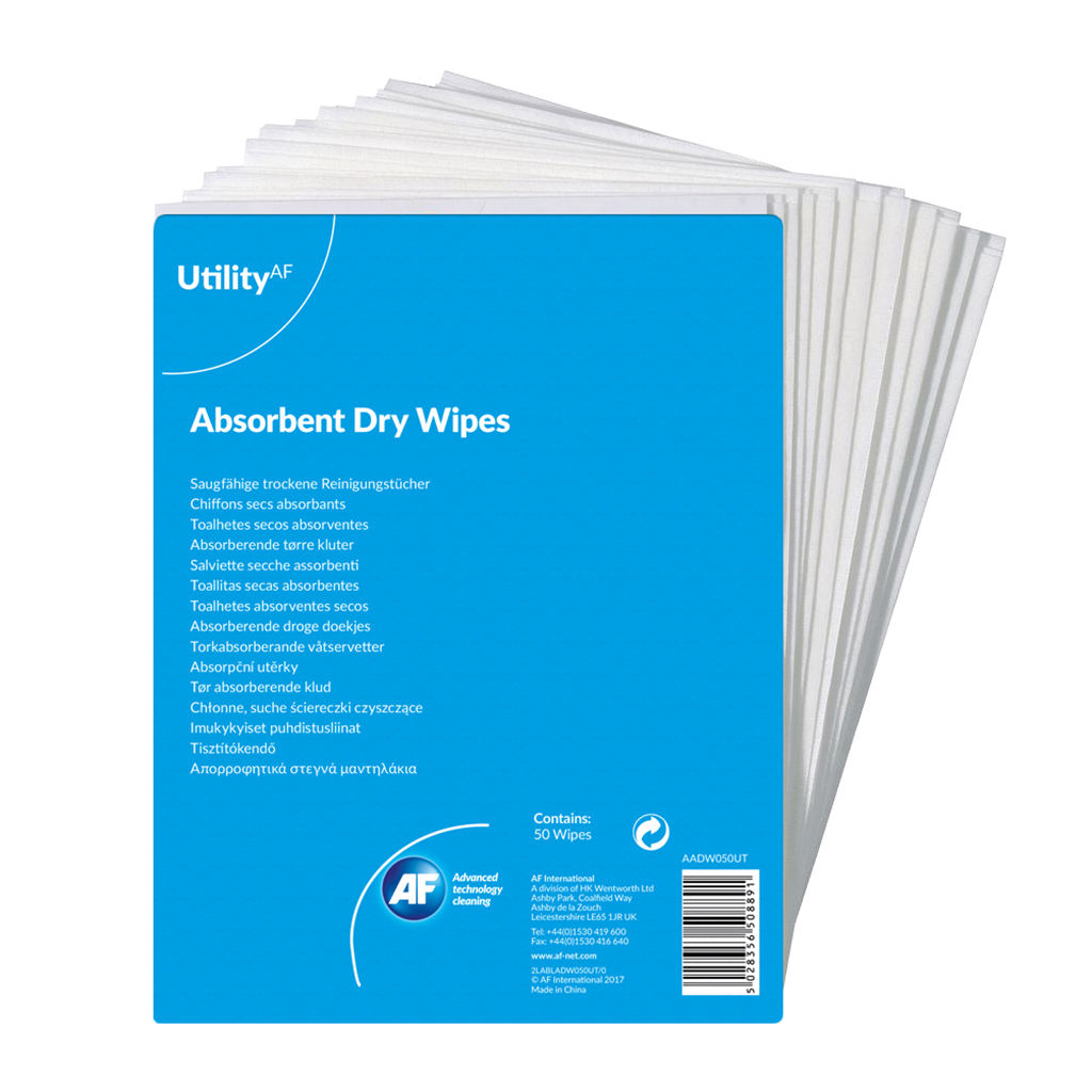 Multipurpose ValueX General Purpose Absorbent Dry Wipes (Pack 50)
