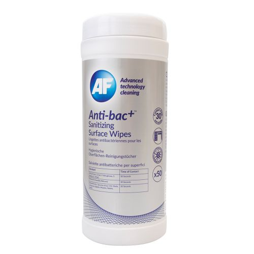 Anti-Bac Sanitising Surface Wipes (Pack of 50) ABSCW50T