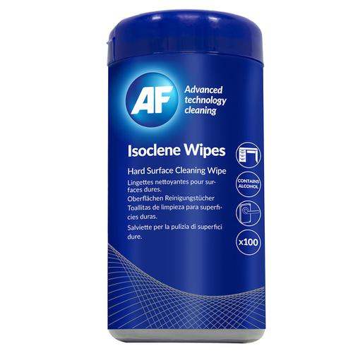AF Isoclene Wipes 100 per Tub Bactericidal Wipes For Disinfecting Most Hard Surfaces