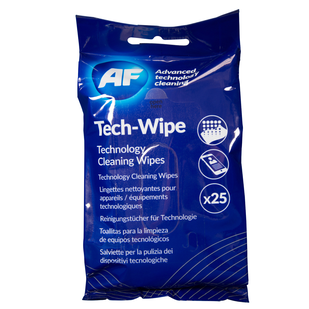 Screen AF Tech Wipes Flat Pack PK25
