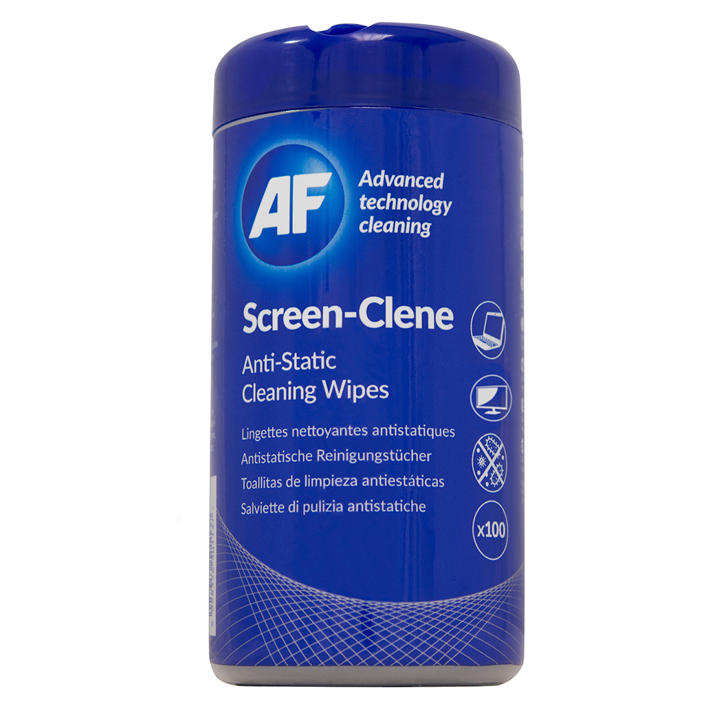 AF Screen-Clene Wipes Tub 100