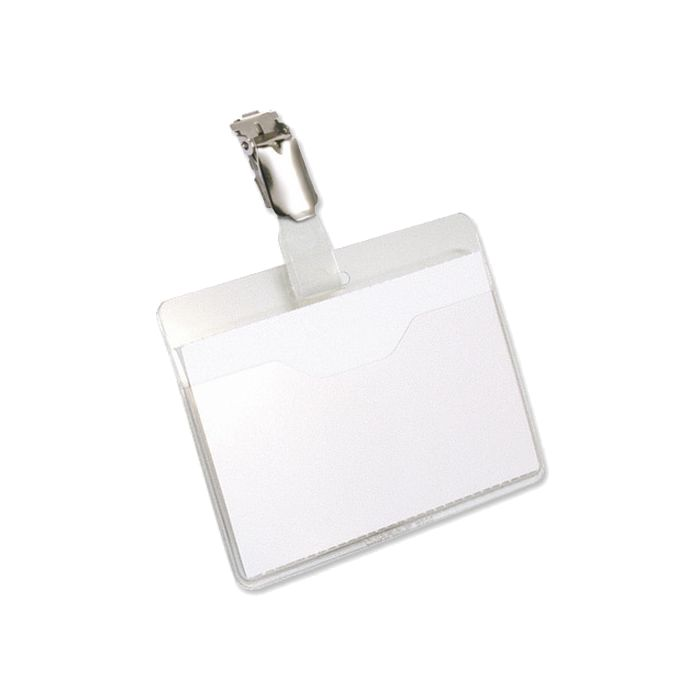 Pavo Visitors Name Badge, 60x90mm, Plastic Clip
