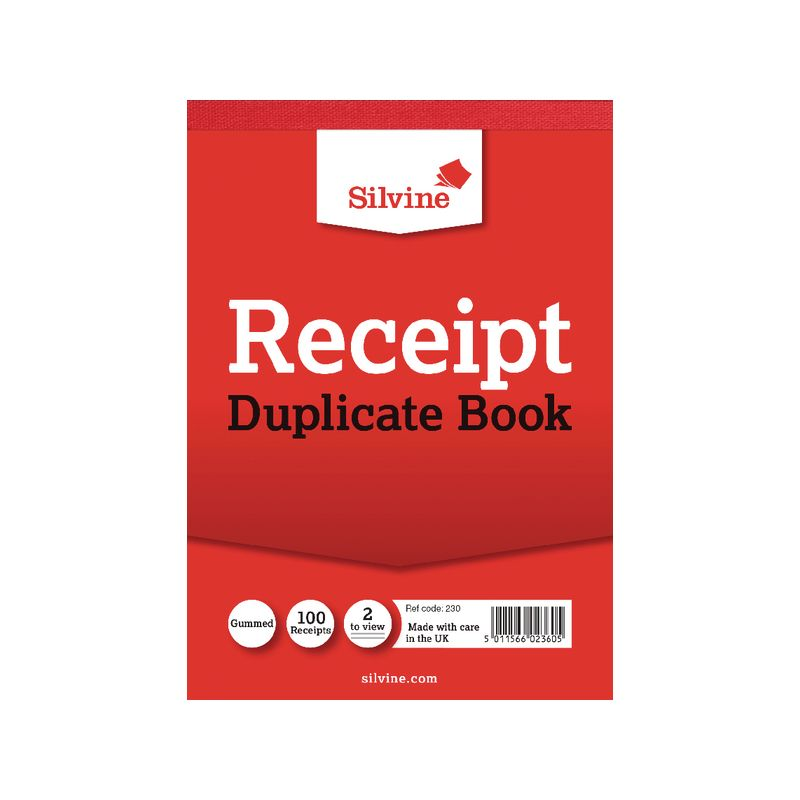 Image for Silvine Dupl 105x148mm Receipt Book Pk12