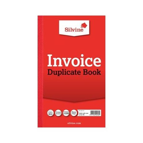 Image for Silvine Duplicate Invoice Book 611