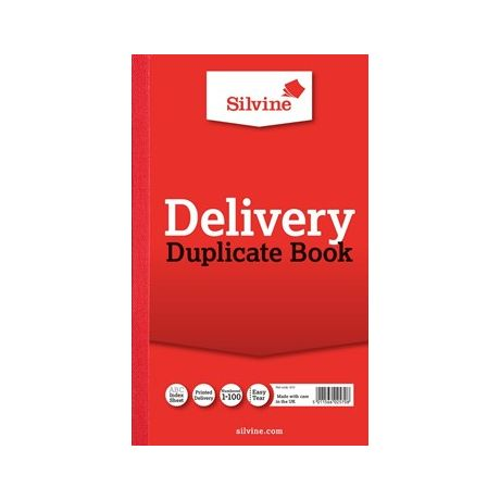 Image for Silvine Dupl Delivery Book Pk6 613-T