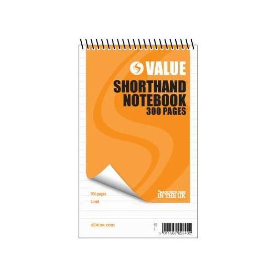 Image for Silvine Shorthand Notebook 150Lf 449 Pk6