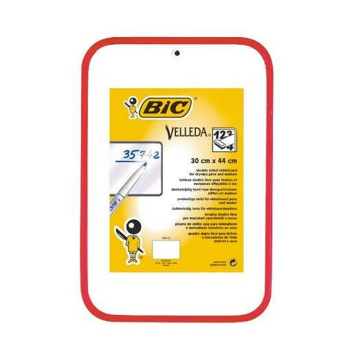 Image for Bic Velleda Red Dry Wipe Board 300x440mm