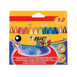 Image for Bic Kids Plastidec Triangle Crayons Pk12