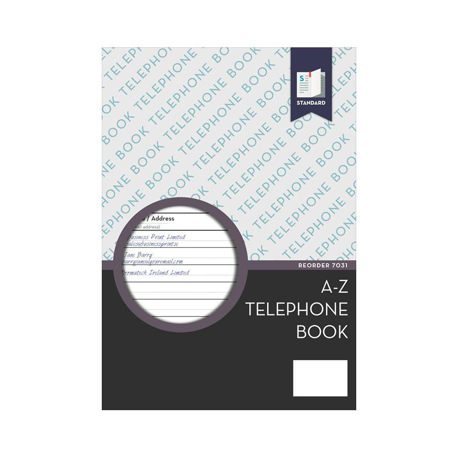 Standard Telephone Index Book, A-Z