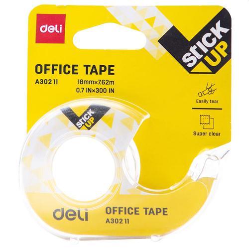 Deli Clear Tape 18 X 7.6m Card Dispenser