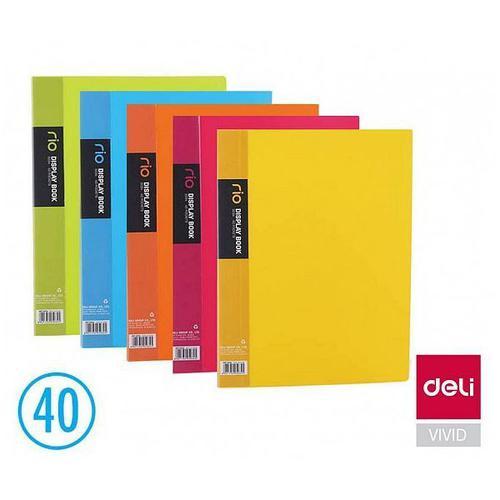 Rio Display Book 40 Pocket Ast 5 Cols Bx12