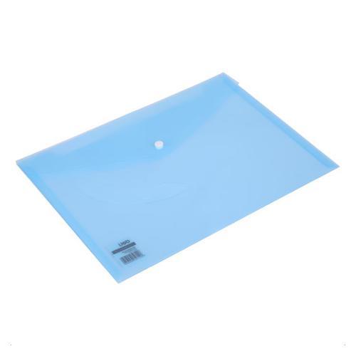 Deli Button Wallet A4 Blue Pack 10