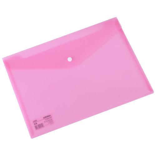 Deli Button Wallet 160mic A4 Pink Pk10