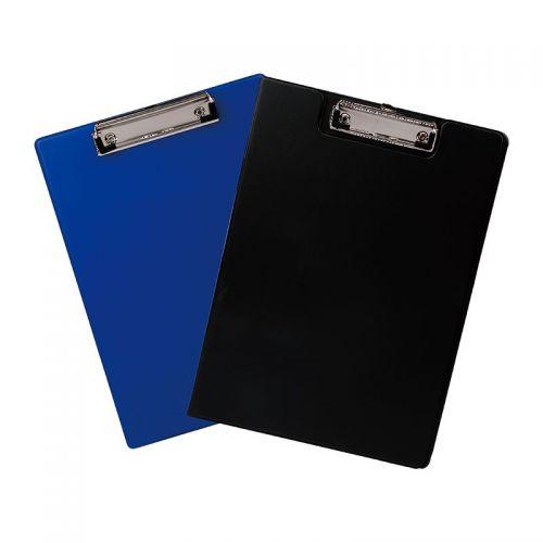 Deli Plastic Clipboard Single A4 Black