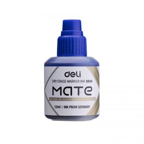 Deli Mate Whiteboard Ink Refill 12ml Blue