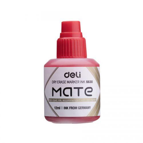 Deli Mate Whiteboard Ink Refill 12ml Red