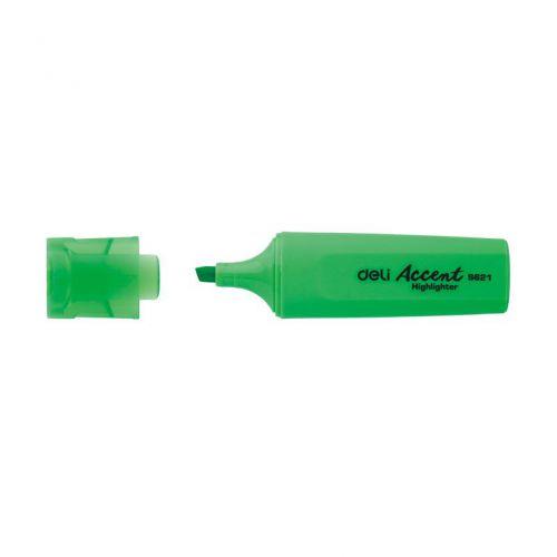 Deli Highlighter Chisel 1-5mm Grn Box 10