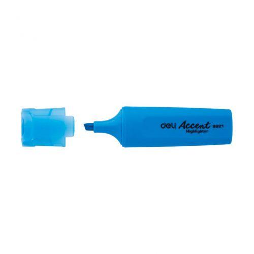 Deli Highlighter Chisel 1-5mm Bu Box 10