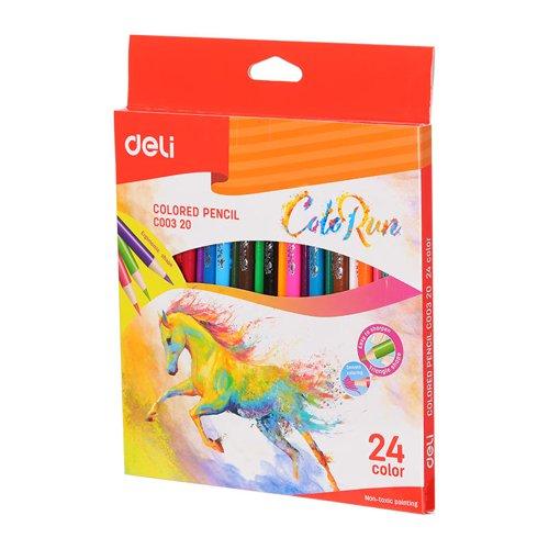 Deli Colorun Colour Pencils Pack 24