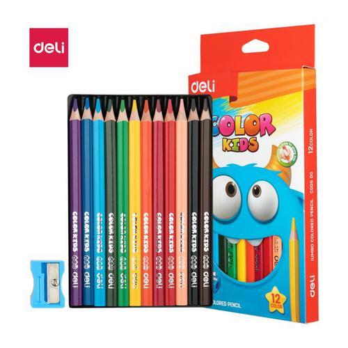 Deli Color Kids Jumbo Pencils Assorted Pack 12