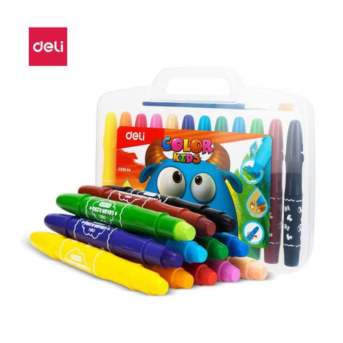 Deli Smooth Gel Crayons 12 Cols