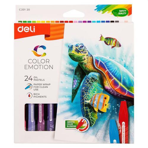 Color Emotion Oil Pastel 24 Colours