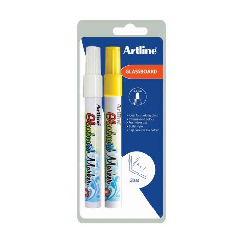 Artline Glassboard Marker Twin Pack Bx12