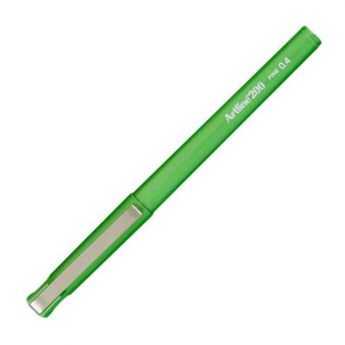 Artline 200 Finepen 0.4mm Green Bx12