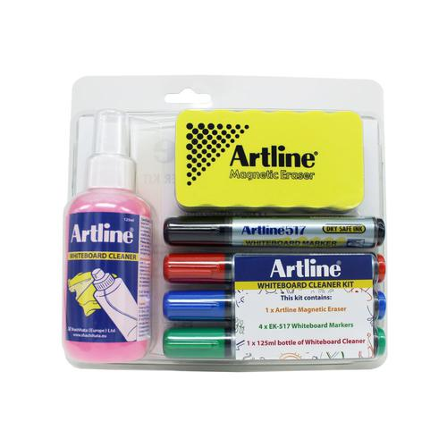 Artline Whiteboard cleaning kit