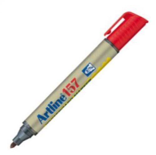 Artline 157 Dry Wipe Marker Bullet Red
